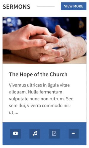 The WPlook Sermons widget.