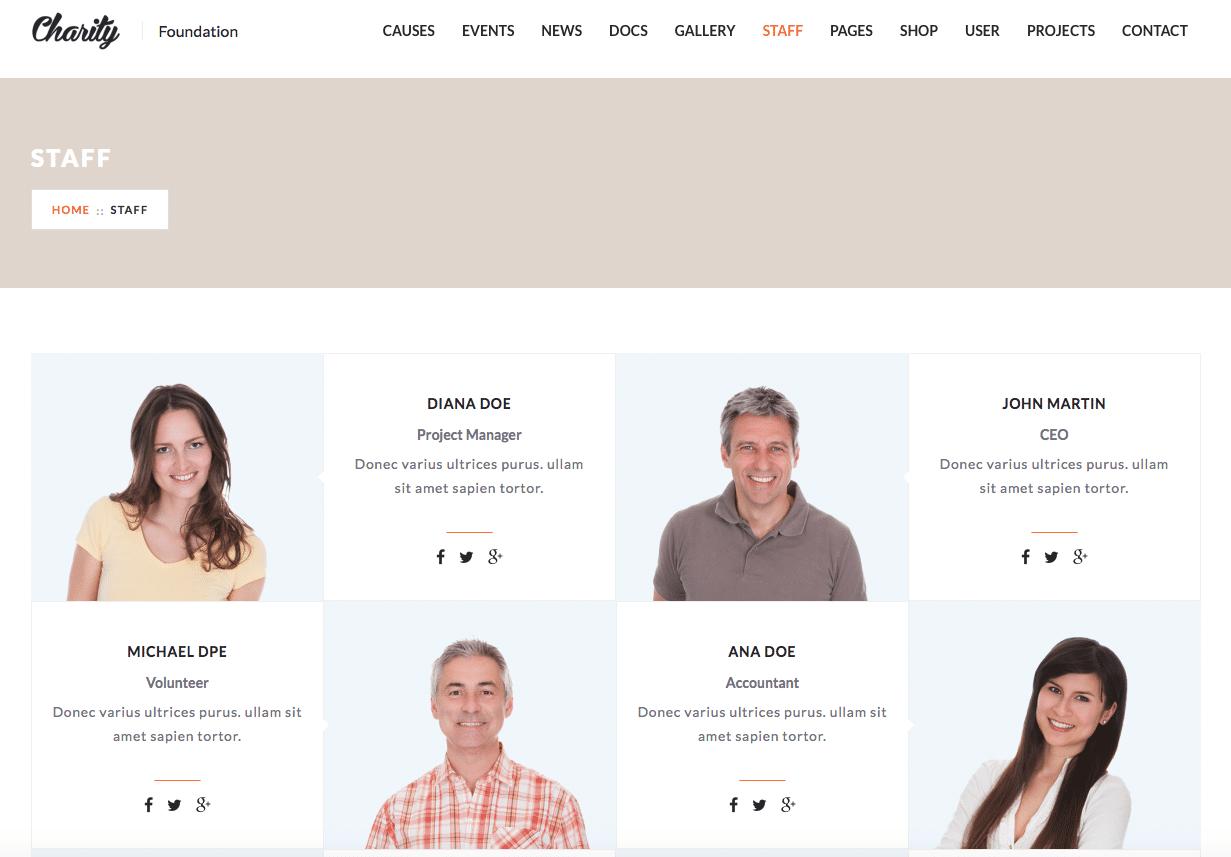 Staff per page