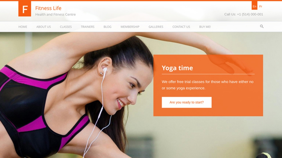Sport & Fitness WordPress theme for Gyms, Trainers, Yoga Classes