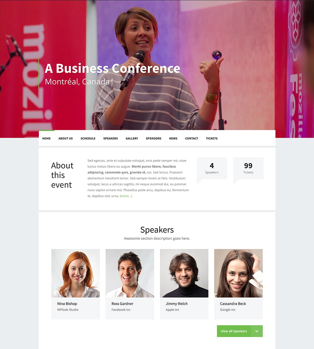 Best WordPress Theme For Conference