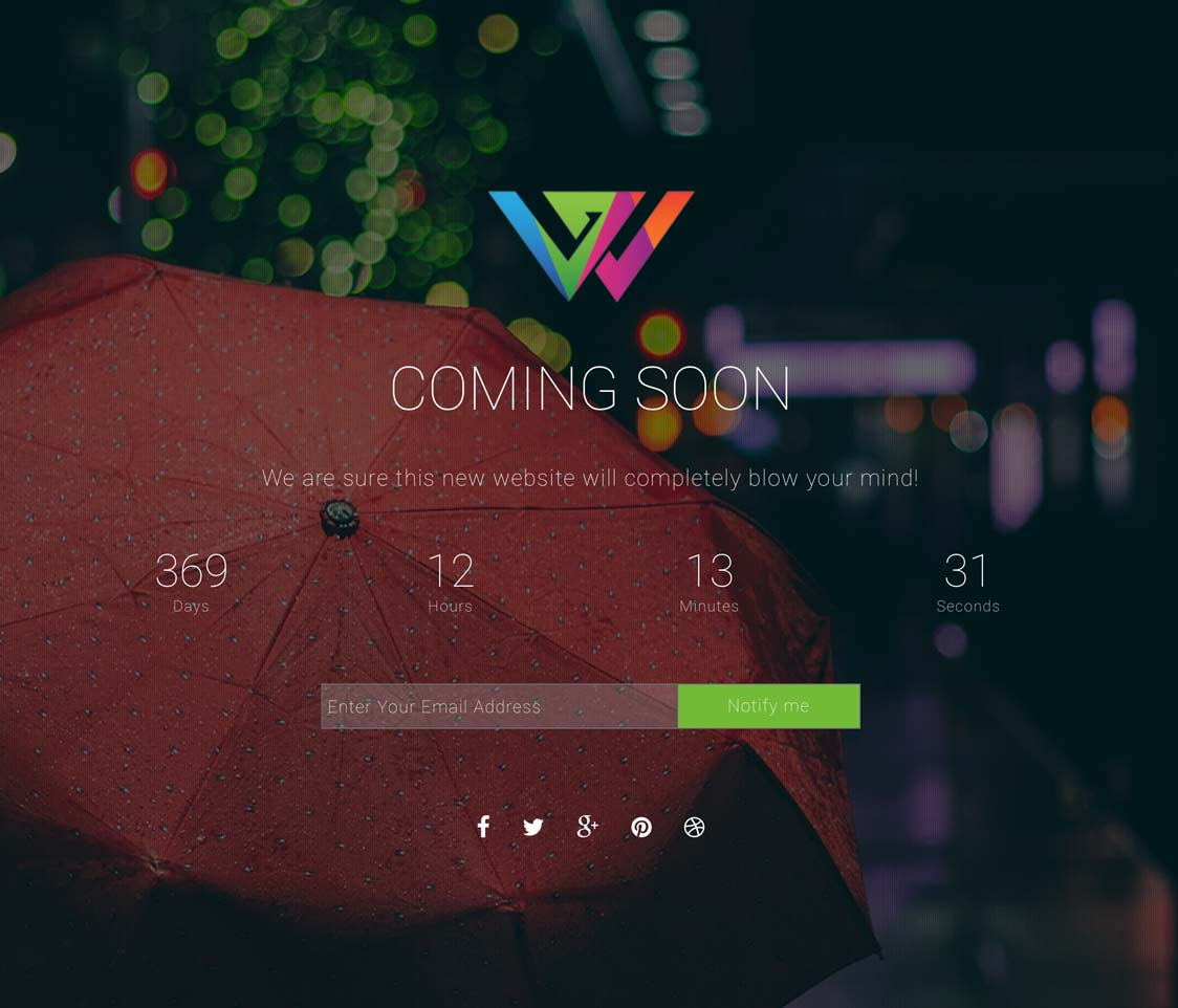 ComingSoon WordPress Theme