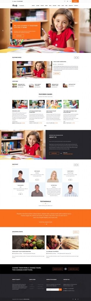 Charity Website - Nonprofit WordPress Theme