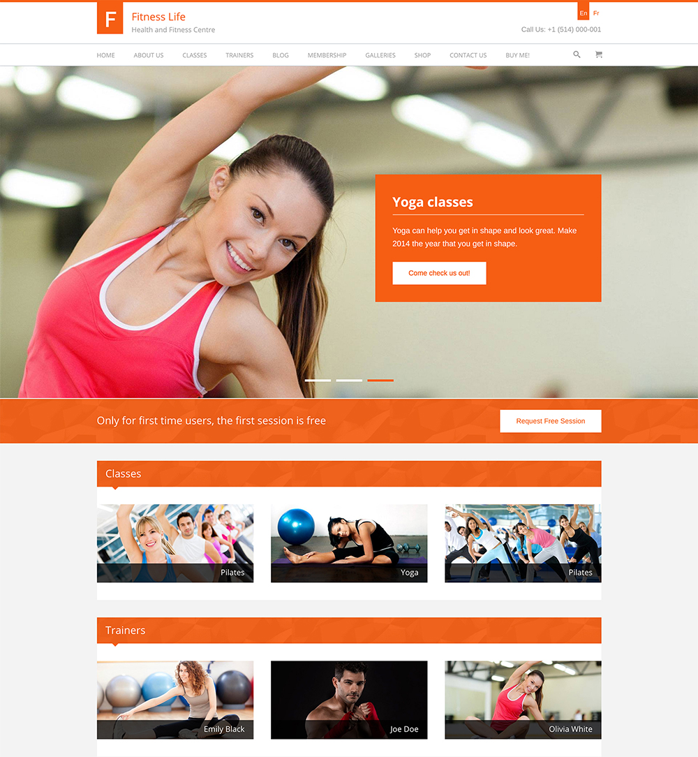 FitnessLife WordPress Theme