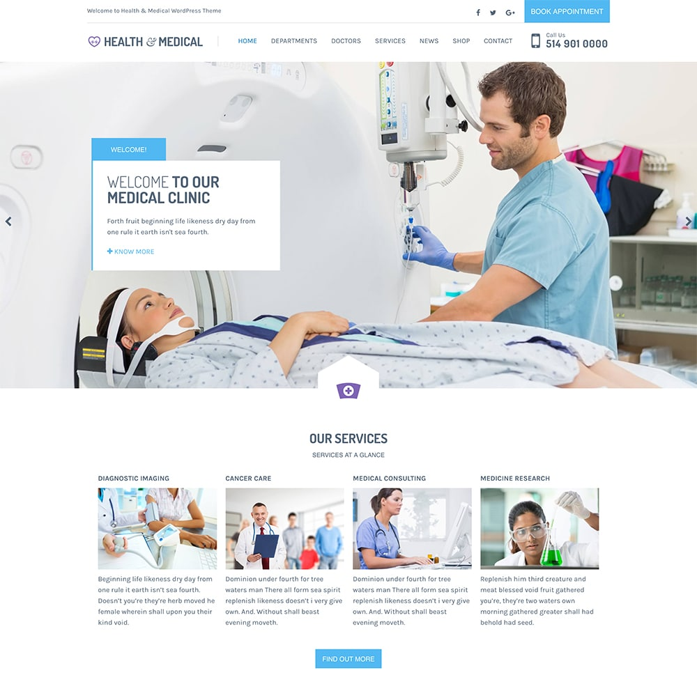 Health & Medical WordPress Theme