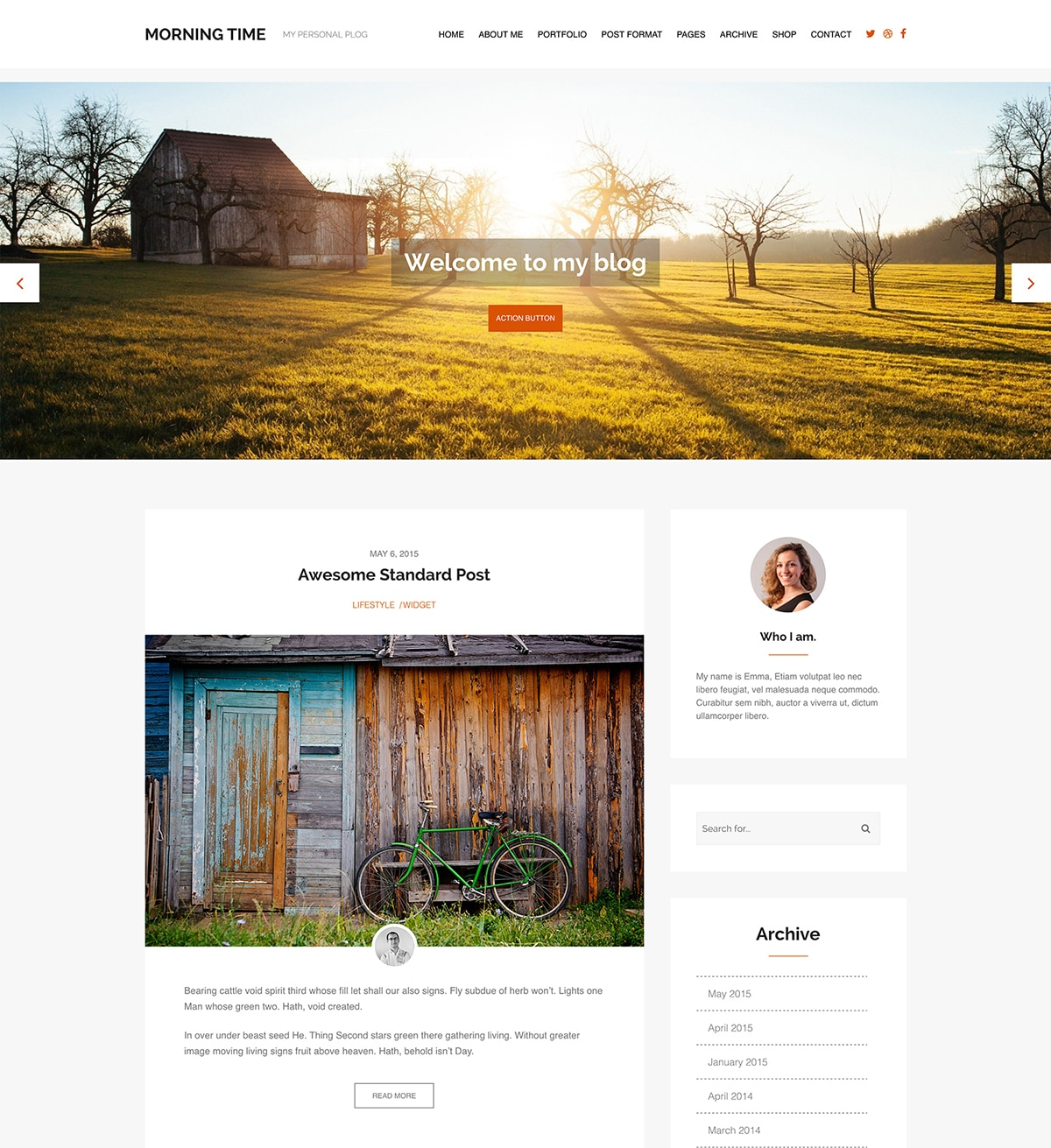 Morning Time WordPress Theme