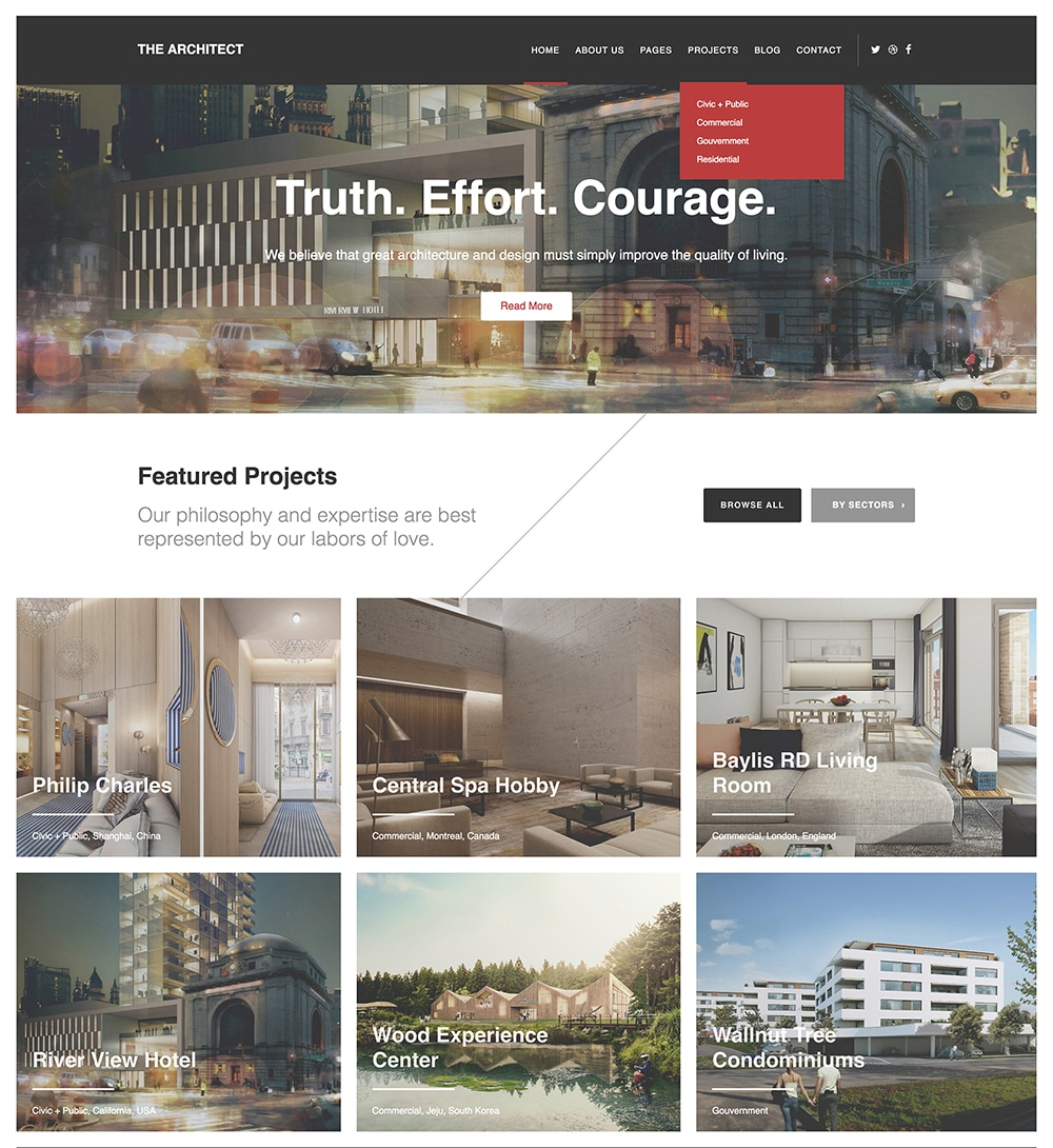 The Architect WordPress Theme