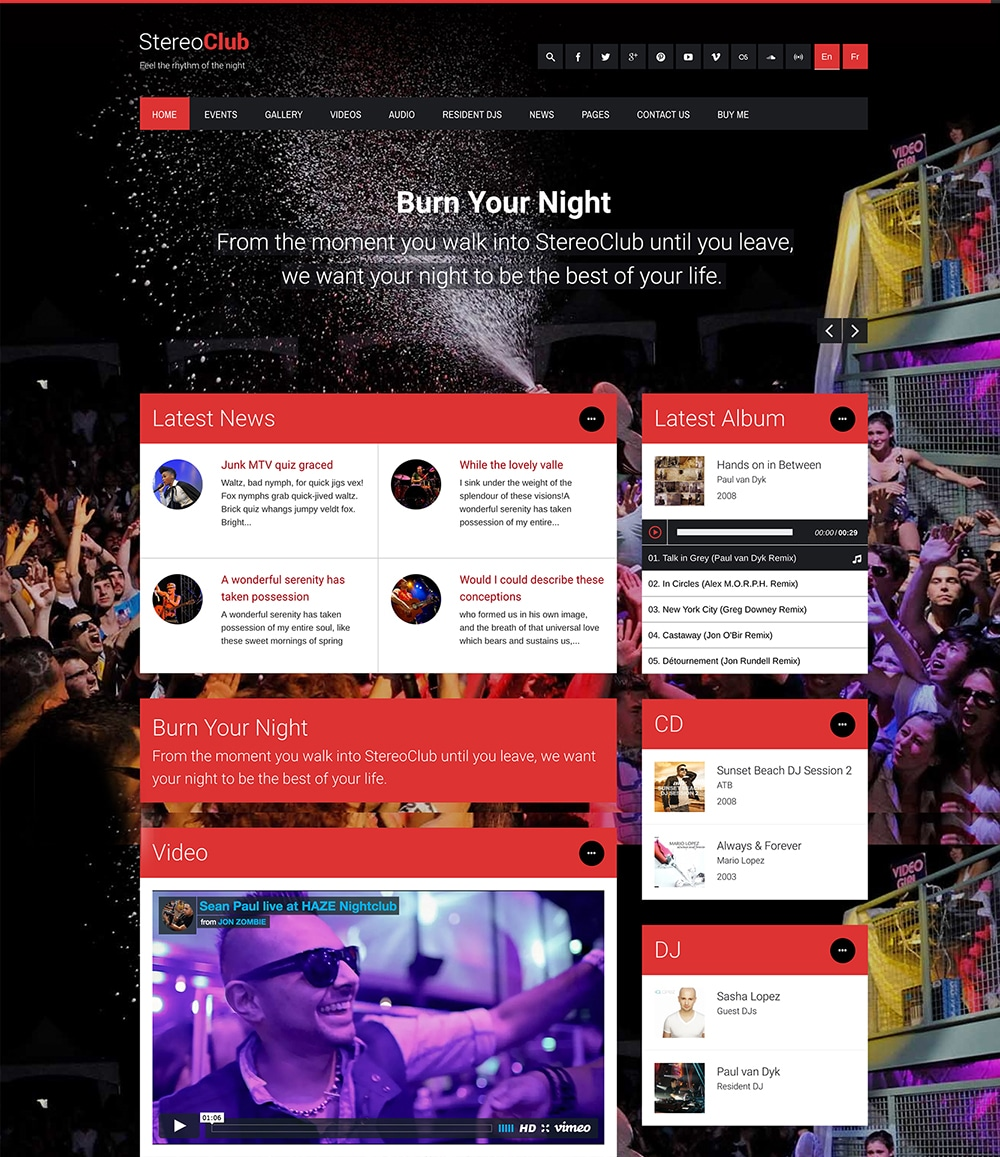 StereoClub WordPress Theme