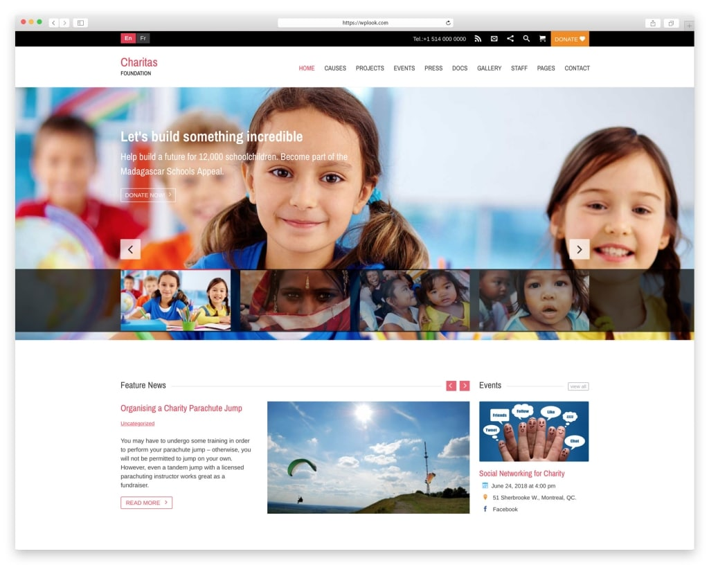 Charitas WordPress Theme for Charity