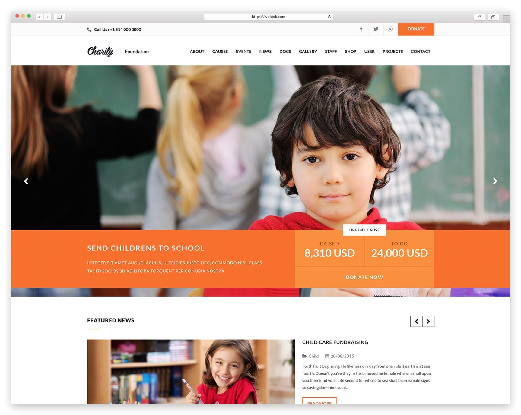 Charity - Donation Theme WordPress