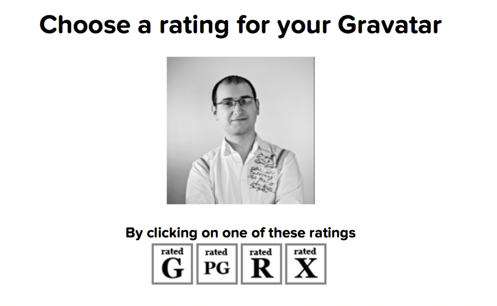 Choose Rating for your Avatar