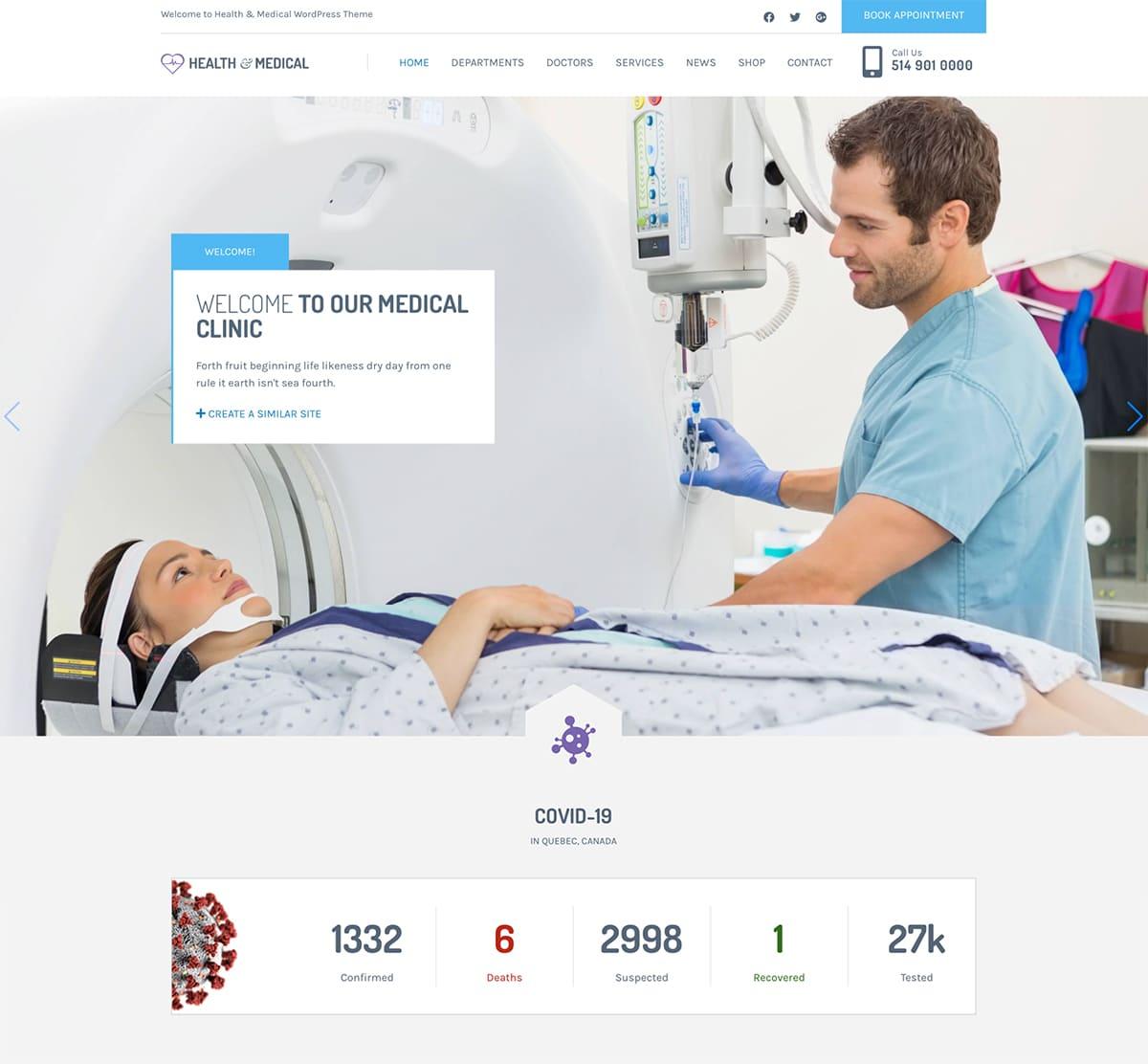 Health & Medical WordPress Theme