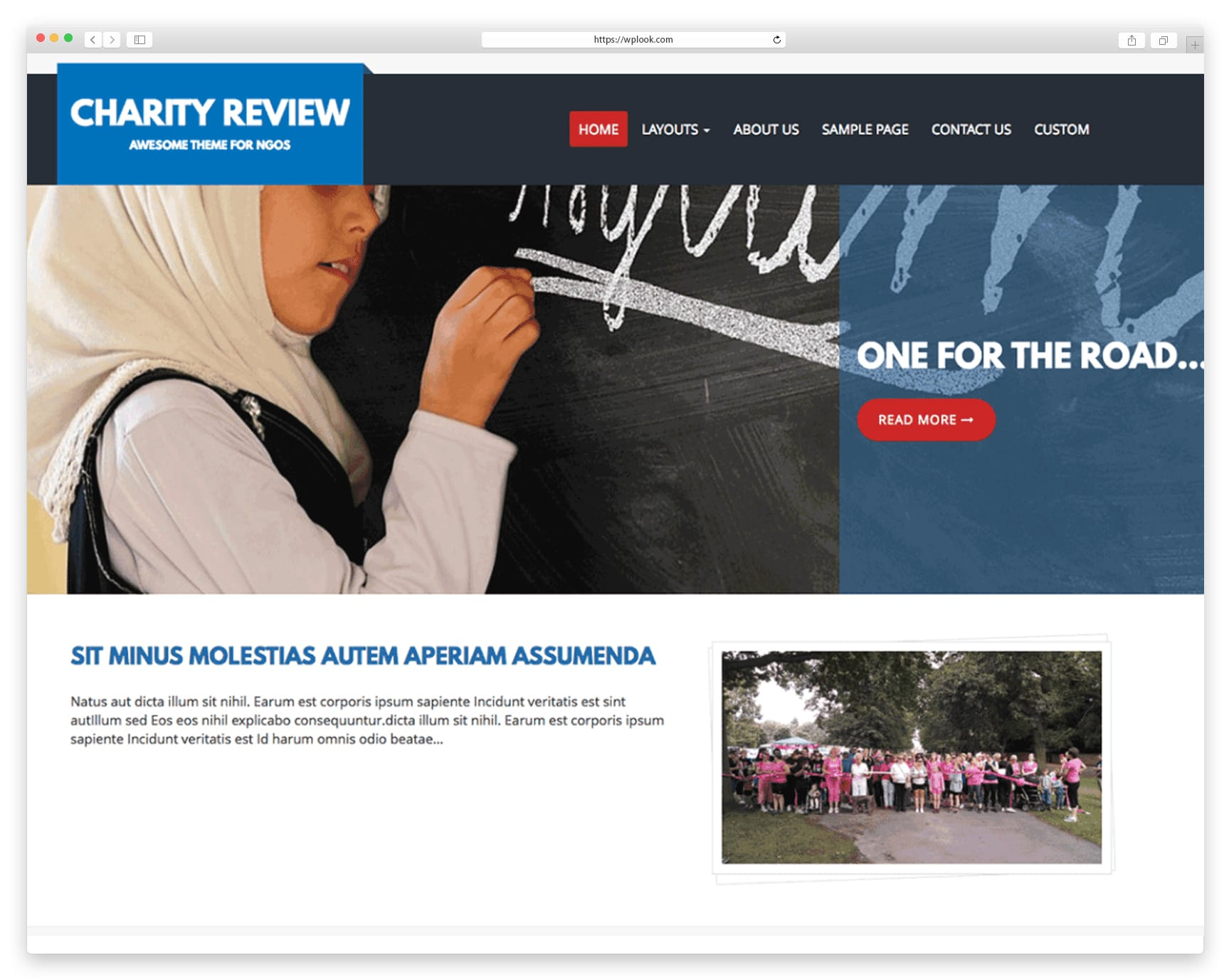 Free WordPress theme created for Non-profit organizations