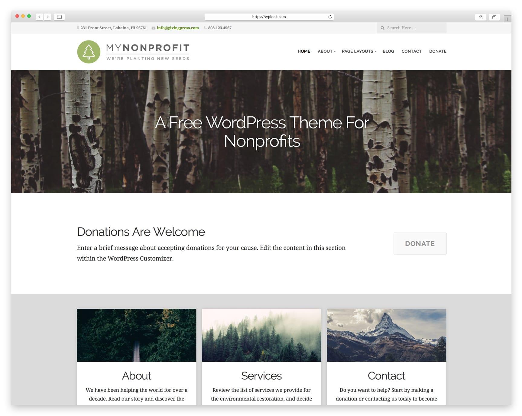 Free WordPress Theme for Nonprofit