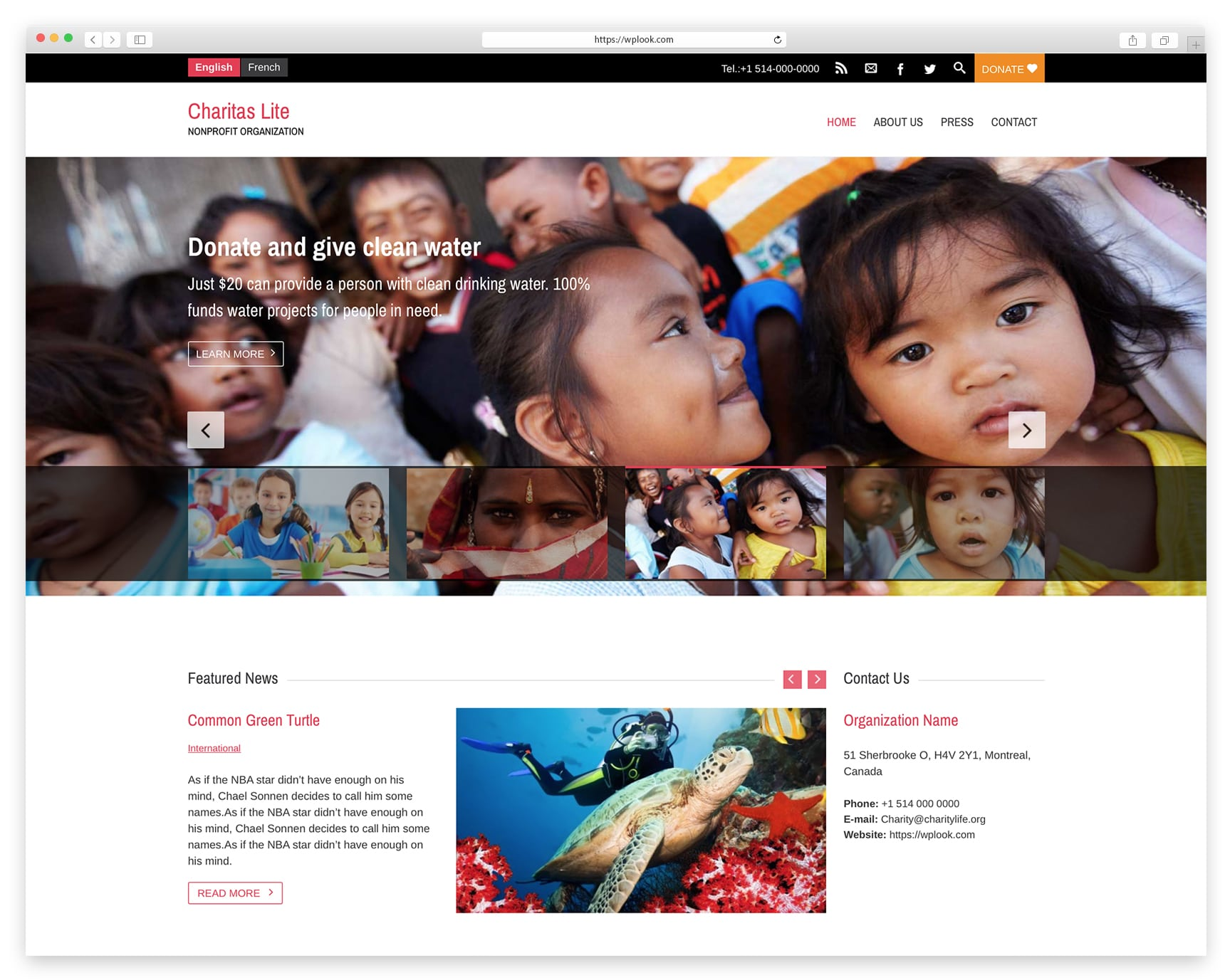 Charity Life - Free WordPress Themes for Charity