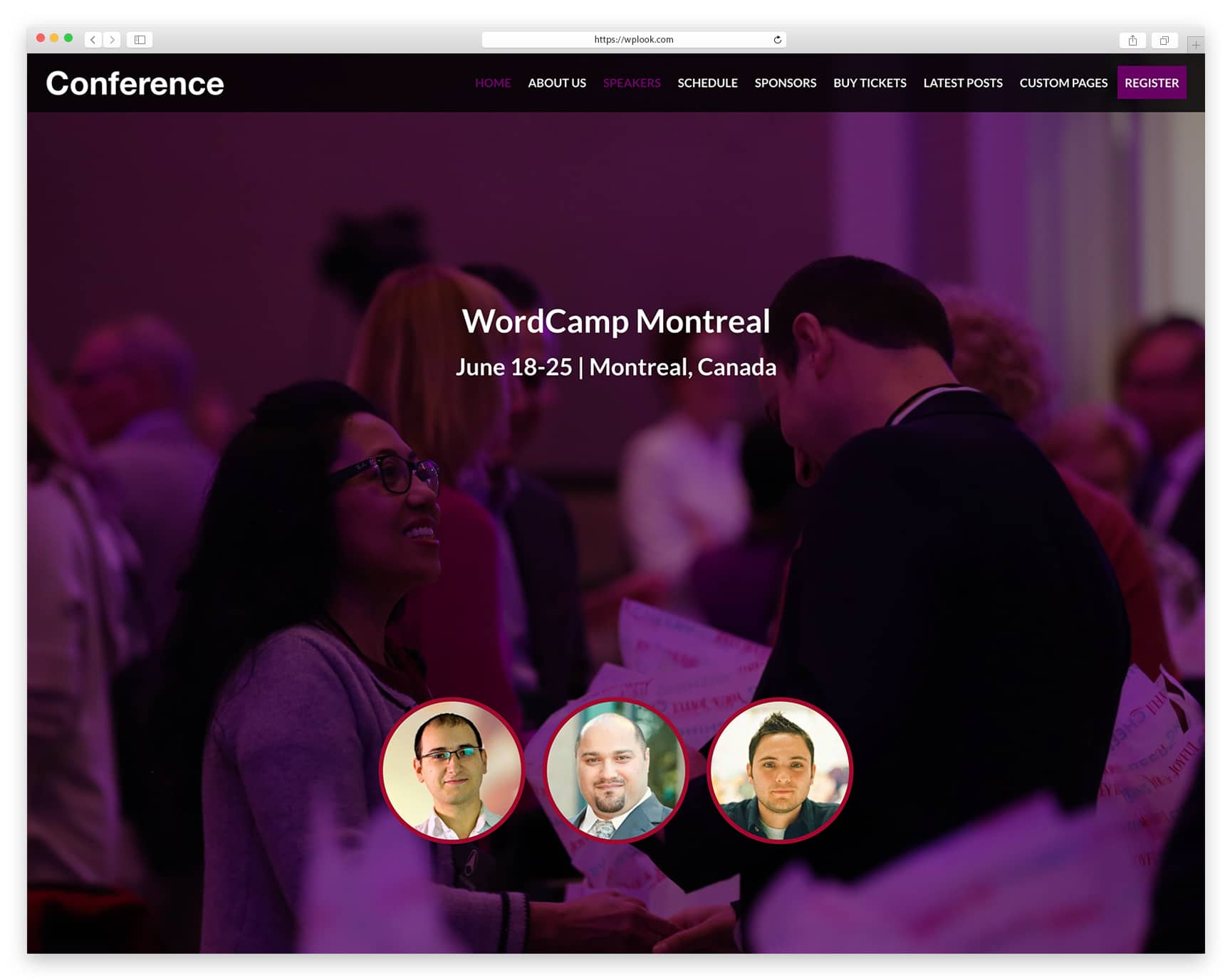 Conference - WordPress Theme for Conference and Events
