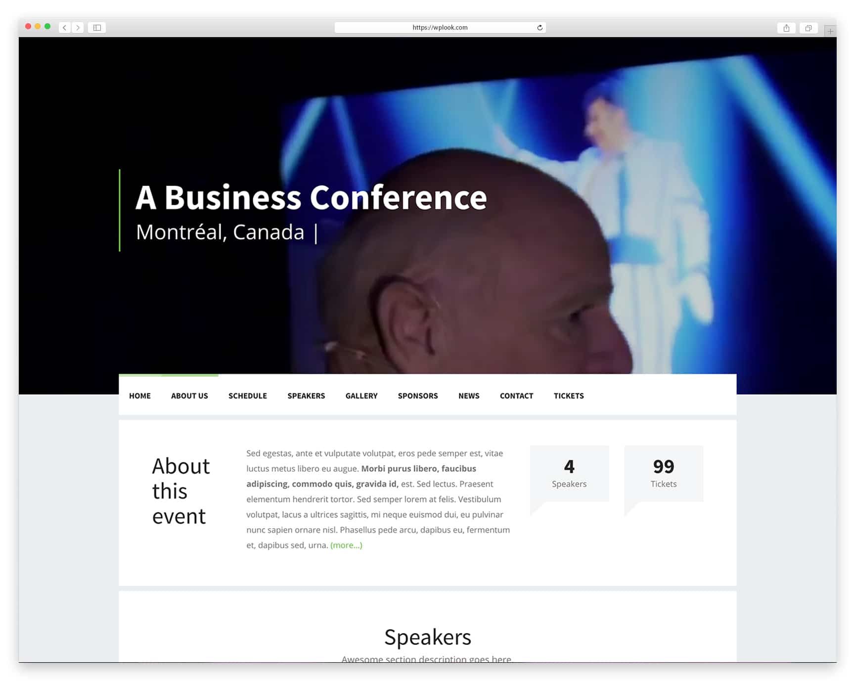 Best WordPress Theme For Events