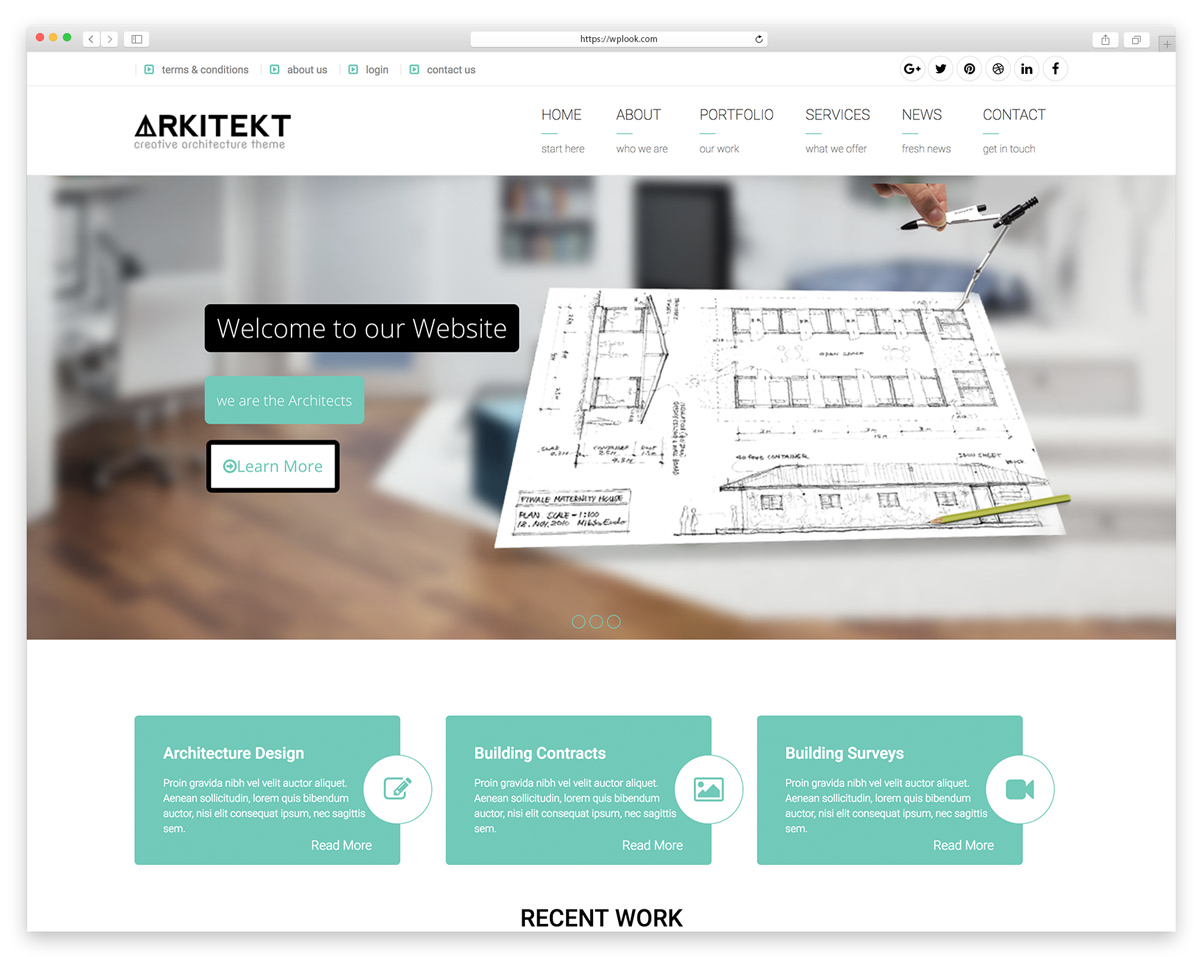 Arkitekt - Architecture WordPress Theme