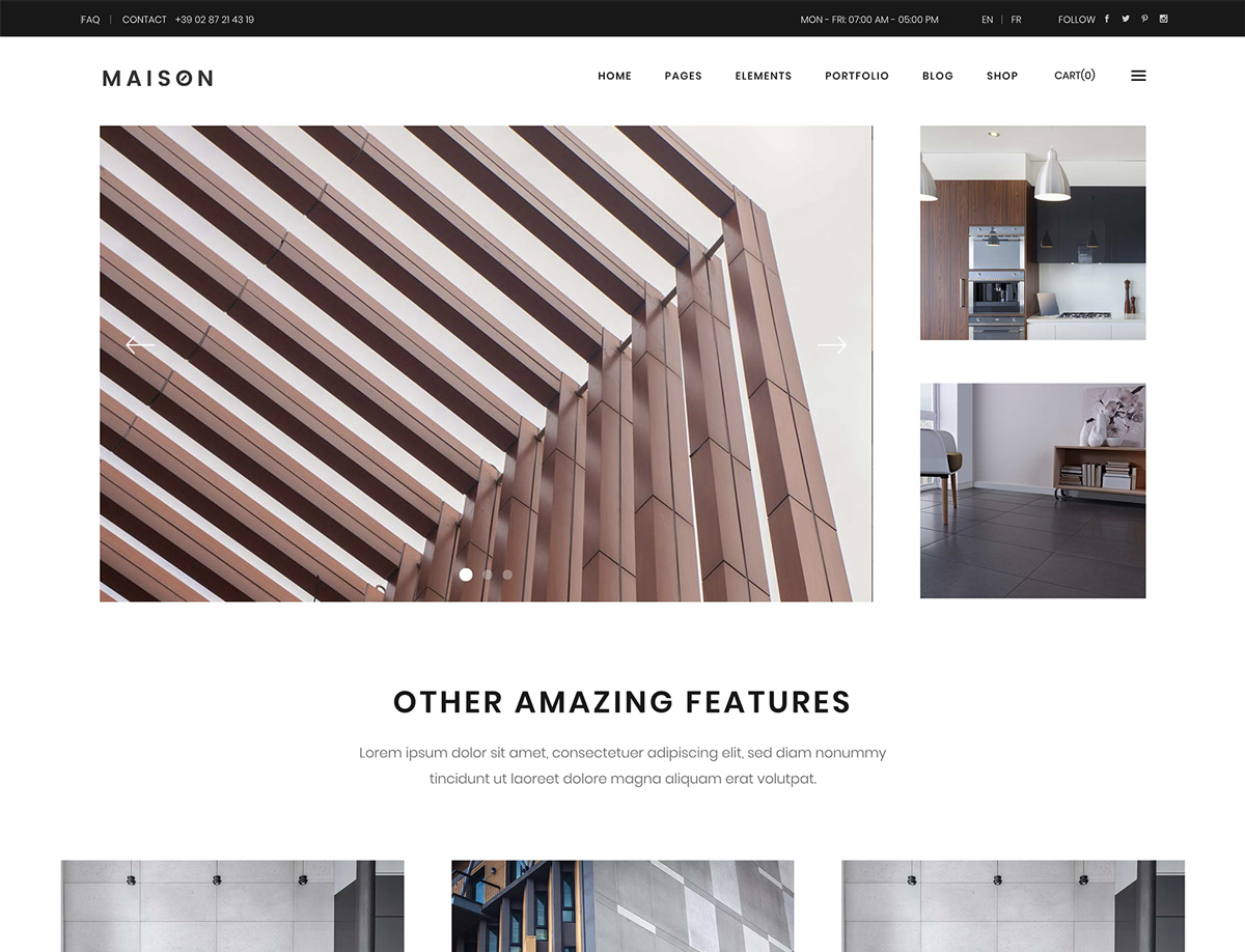 Maison - Theme for Architects and Interior Designer