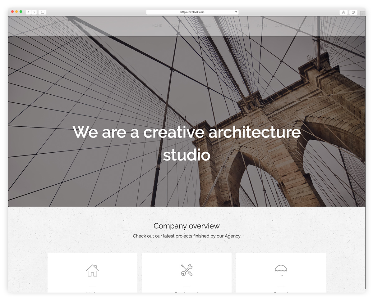 Organic - Architecture & Creatives WordPress Theme