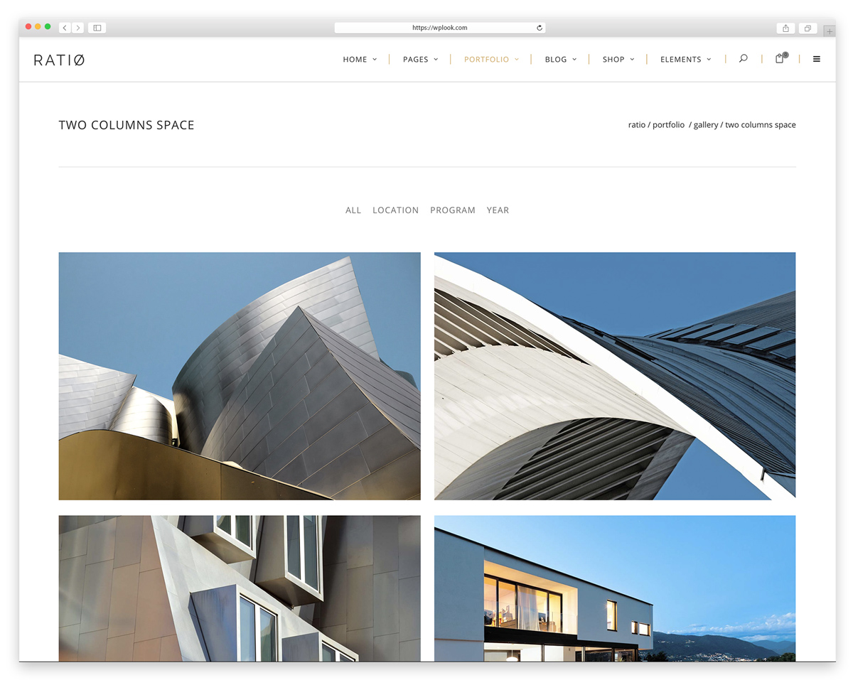 Ratio – Theme for Architecture, Construction, and Interior Design