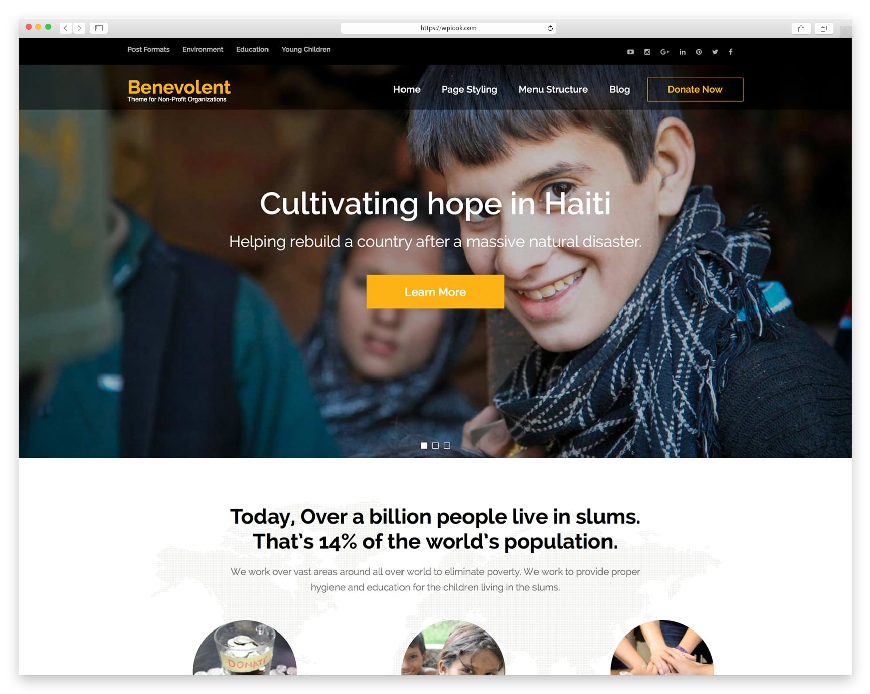benevolent-Free WordPress Themes for Charity