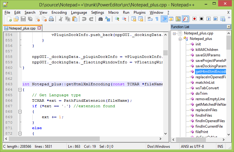Notepad ++code editor