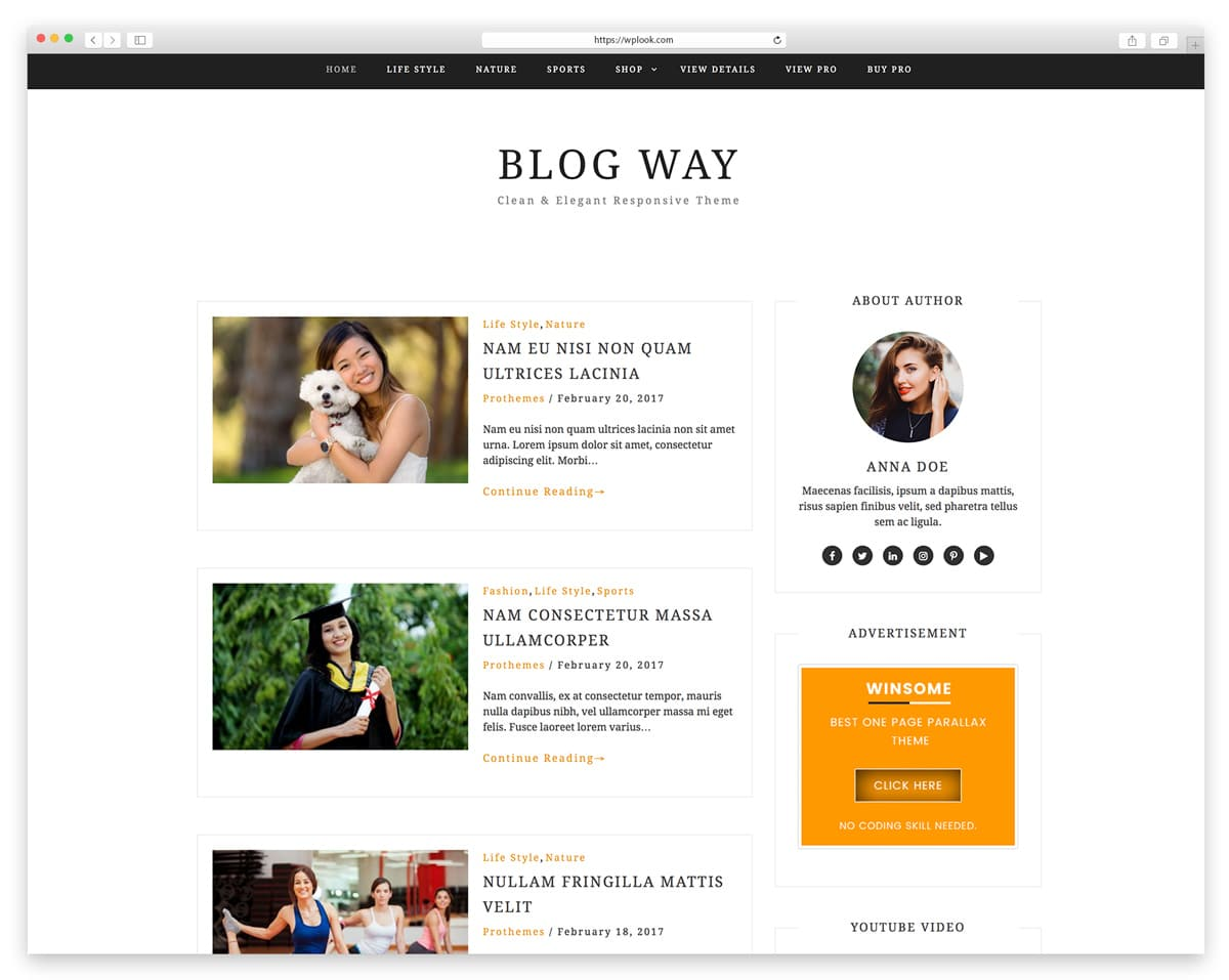 10 Best Free Personal Blog Wordpress Themes Wplook Themes