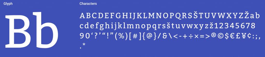 Bitter Serif Font