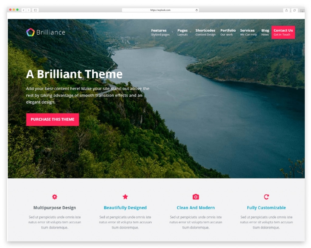 Brilliance - Free Responsive WordPress Theme