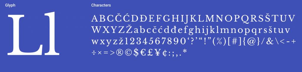 Libre Baskerville Serif Font