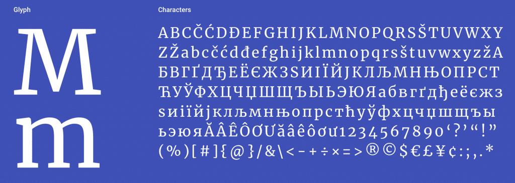 Merriweather Serif Font
