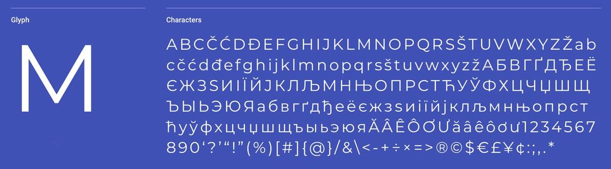 Montserrat Sans-Serif Font