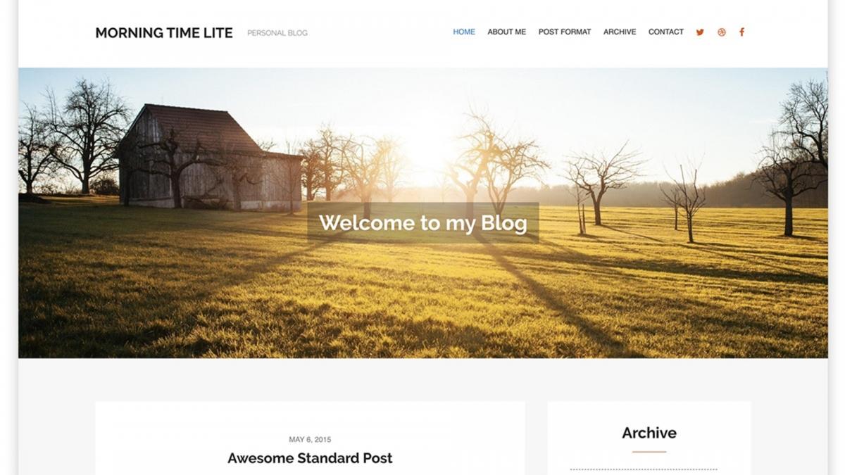 10 Best Free Personal Blog WordPress Themes - WPlook Themes