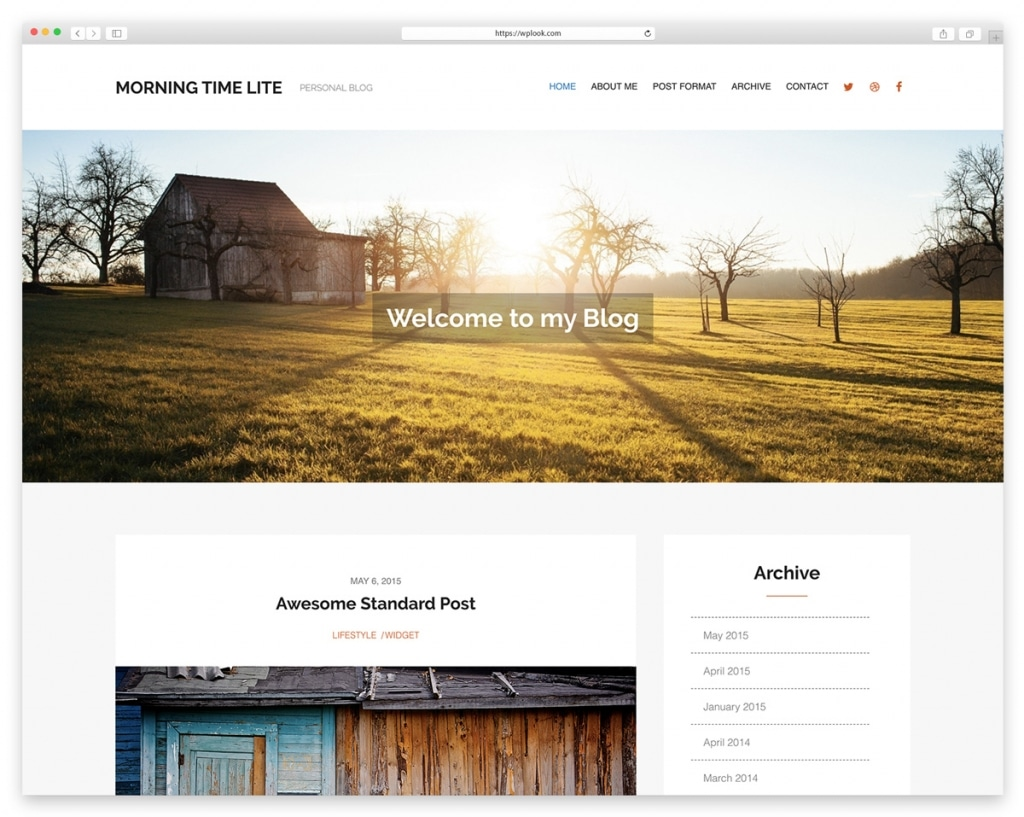 Morning Time Lite - Free Responsive WordPress Theme