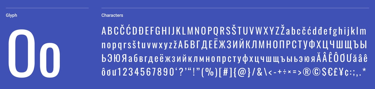 Oswald Sans-Serif Google Font