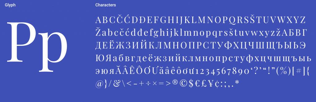 Playfair Display Serif Font
