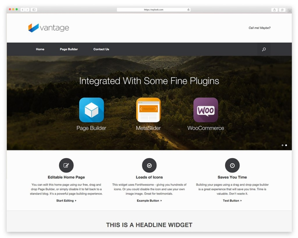 Vantage - Free Responsive WordPress Theme