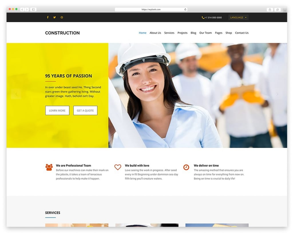 Construction - WooCommerce Theme for Construction Companies and Business