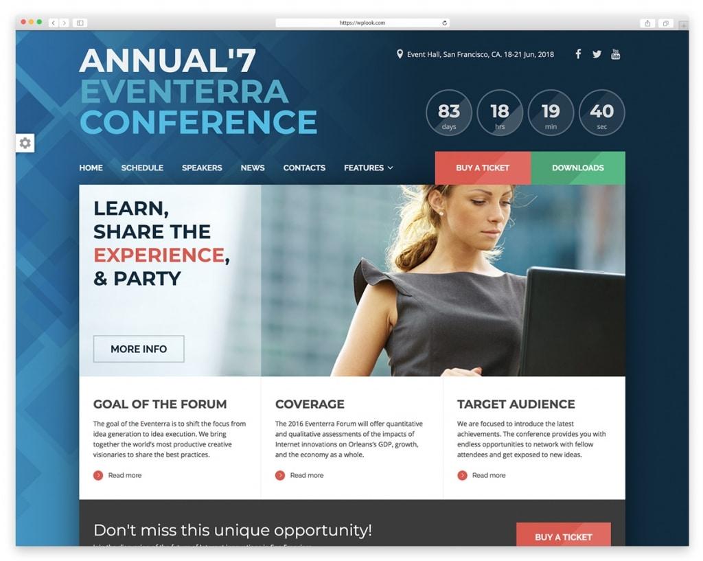 Eventerra WordPress Theme