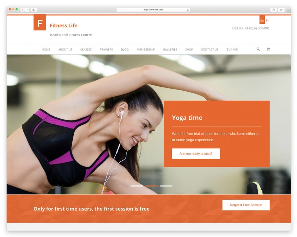 FitnessLife - WooCommerce Theme for Gym and Trainers