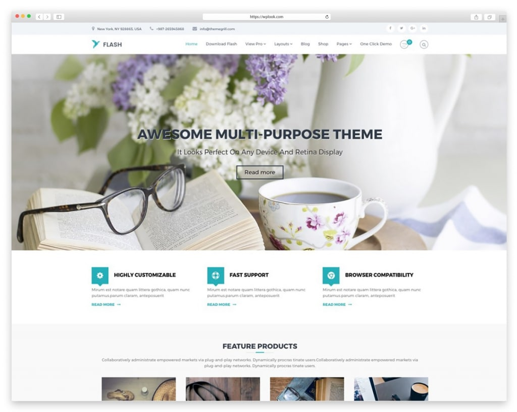 Flash - Free Responsive WordPress Theme