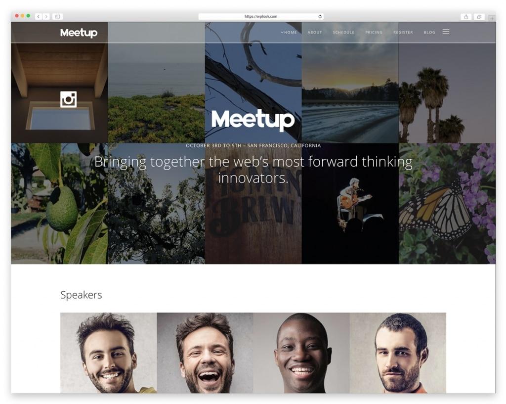 Meetup WordPress Theme