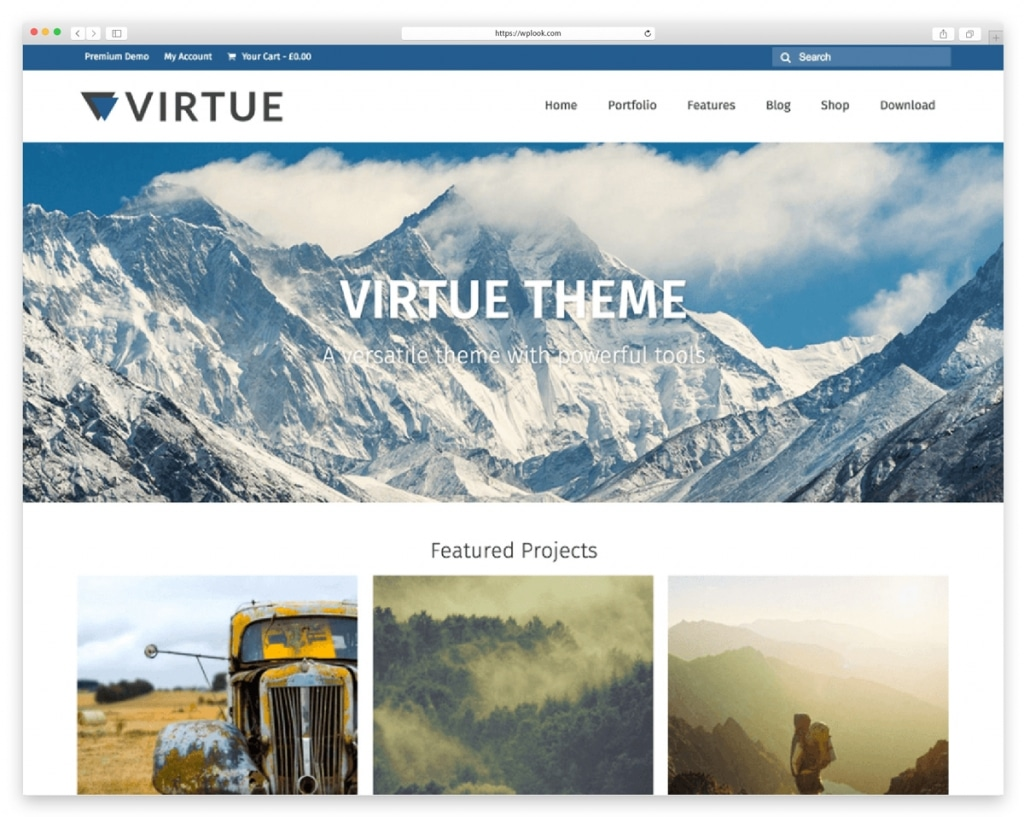 Virtue - Free Responsive WordPress Theme