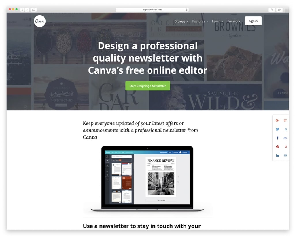 Canva - Email Newsletter Toole