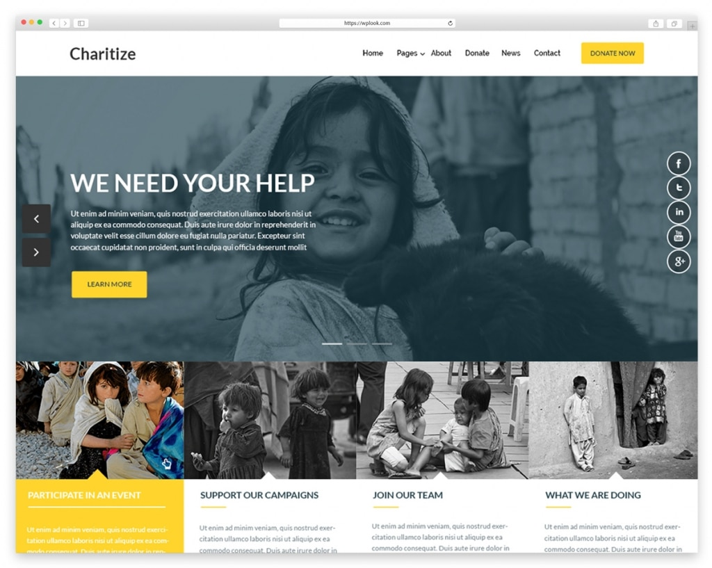 Charitize Free WordPress Theme for Churches