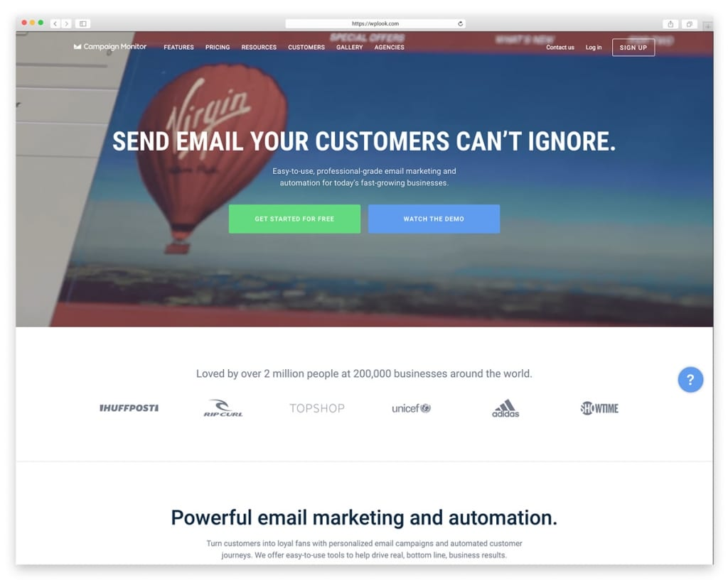 Campaign Monitor - Email Marketing Tool