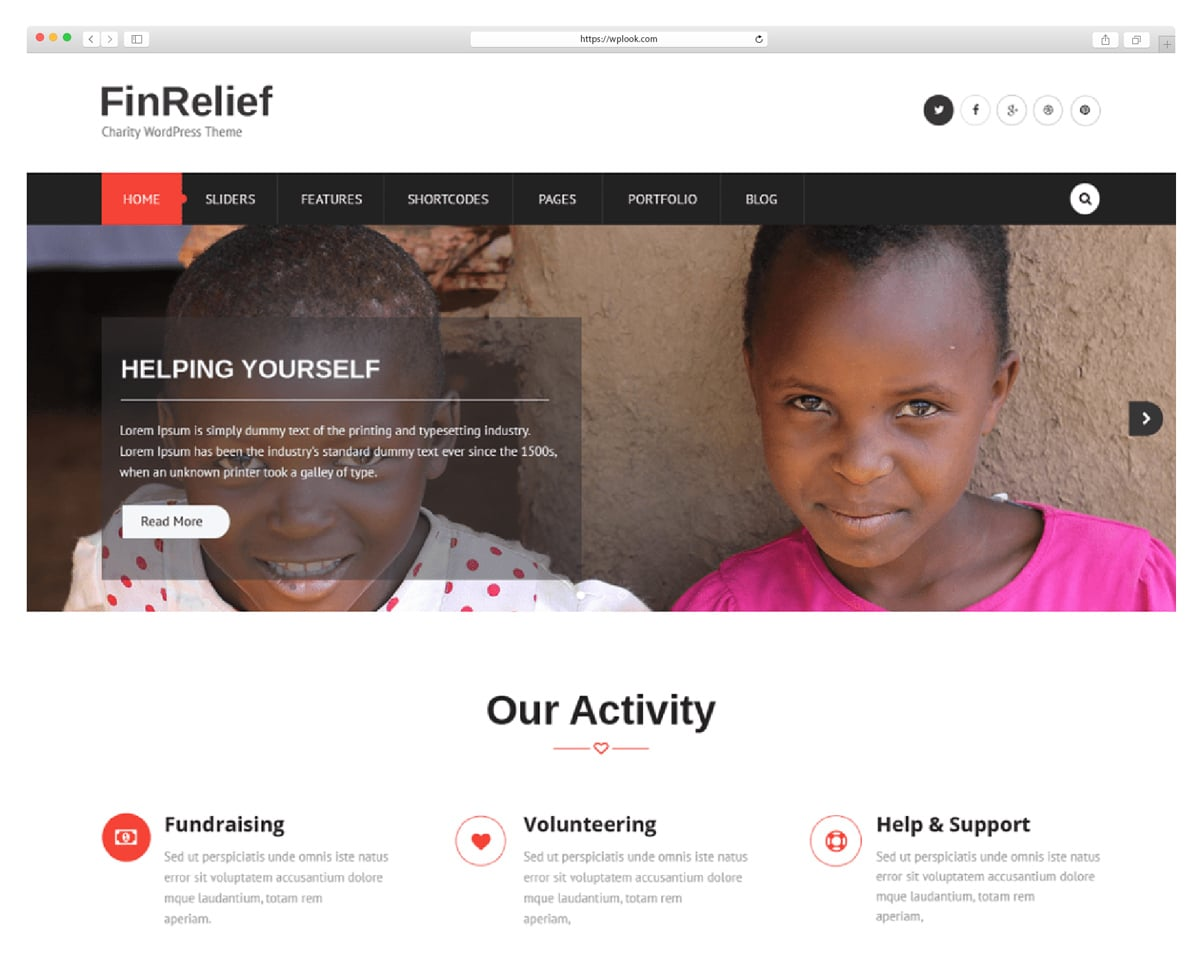 FinRelief - Free Church WordPress Theme