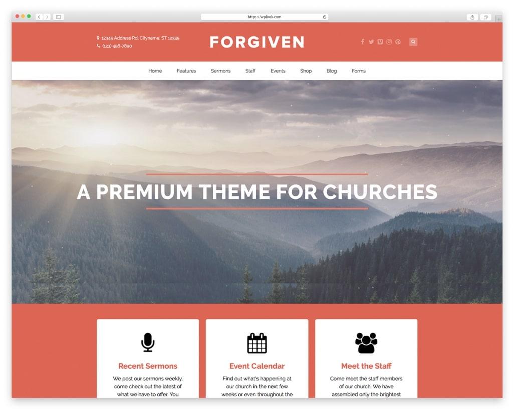 Forgiven WordPress Islamic themes
