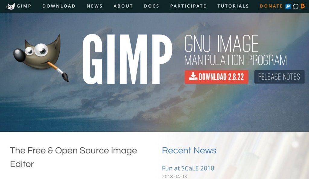 GNU Image Manipulation Program (GIMP)