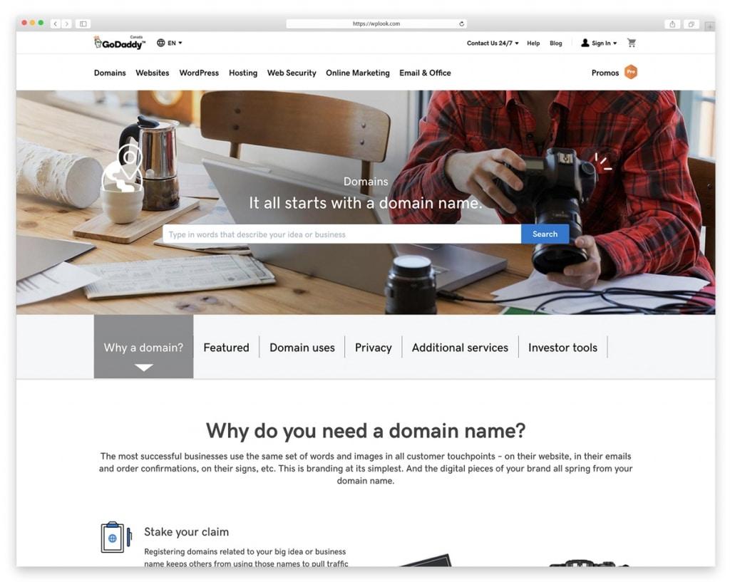 GoDaddy - Website Domain Names Register